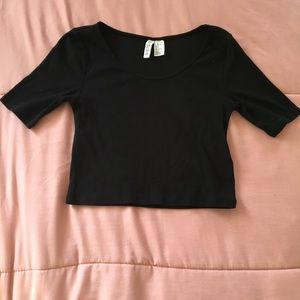 Black Crop Top From H&M